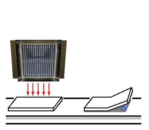 遠赤外線パネルヒーターによる液晶用カバーガラスの加熱