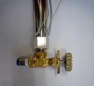 小型調節弁付き熱風ヒーター
