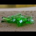 ハロゲンポイントヒーターHPH-160/f40による緑色ガラス片の加熱溶解-ハロゲンポイントヒーターの活用法ビデオ