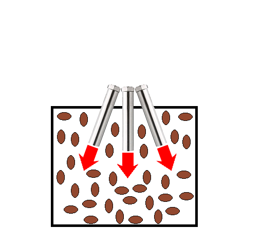 ピーナッツの熱風焙煎-熱風ヒーターの活用法