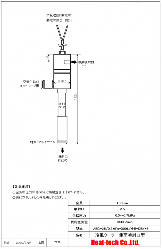 ABCの外形図
